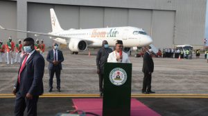Reception Ceremony of 2 new Airbus A220-300 planes for Ibom Air